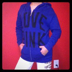 NWOT Victoria's Secret Jacket!! NWOT Navy Blue Victoria's Secret Zip Up Jacket. XS. 60% COTTON. 40% POLYESTER.            This jacket is super adorable and cozy!  Victoria's Secret Jackets & Coats