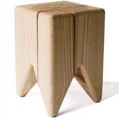 STUMP made by: Kalon Studios.         An elevated fascimile of the treestump, this table is raw, unfinished, and sustainable, as it's made from FSC-certified domestic ash or maple and polished to a smooth finish.    Read more: http://www.dwell.com/products/stump.html#ixzz1rmPvuIyz
