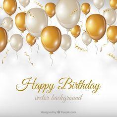 Balloons Happy Birthday Card - birthday diy gift present custom ideas Birthday Wishes Cards, Happy Birthday Greetings, Birthday Party Invitations, Birthday Diy, Birthday Parties, Card Birthday, Birthday Gifts, Colorful Birthday, Golden Birthday