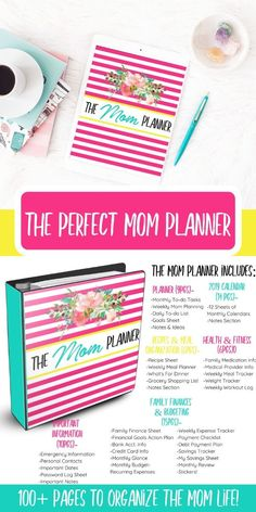 The perfect solution to organize all things mom. From creating a budget to maintaing a cleaning schedule keeping your recipes & so much more.this planner HAS IT ALL. Stay At Home Mom, Work From Home Moms, Mom Advice, Parenting Advice, Mom Planner, Raising Godly Children, Thing 1, Organized Mom, Christian Parenting