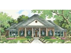 NeoClassical House Plan with 3372 Square Feet and 4 Bedrooms from Dream Home Source | House Plan Code DHSW18813