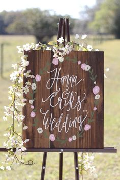 Personalized Rustic Wooden Wedding Sign with by ThePaperWalrus