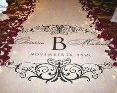 Rich elegance in a custom wedding aisle runner #customaislerunners, #weddingaislerunners