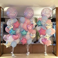 Awesome Balloon Decorations for Baby Shower - baby shower balloons Jojo Siwa Birthday, Unicorn Birthday Parties, Birthday Party Themes, Birthday Ideas, 5th Birthday, Unicorn Party Decor, Spa Birthday Cake, Unicorn Baby Shower Decorations, First Birthday Balloons