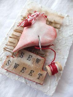 Valentines sew sweet mini canvas tutorial
