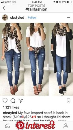 Mode Leopard scarf ideas Easy, simple ways to build up your child's brainpower Centuries ago, midwiv Mode Outfits, Casual Outfits, Fashion Outfits, Fashion Trends, Look Fashion, Autumn Fashion, Leopard Scarf, Leopard Shoes, Weekend Wear