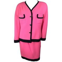 HOLIDAY FLASH SALE! 50% Off! Chanel Pink Suit with Black Trim