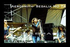 Aerosmith at the Ozark Music Festival in Sedalia in July 1974.
