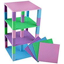 Strictly Briks Classic Baseplates 6 x 6 Brik Tower 100/% Compatible with All Major Brands Building Bricks for Towers and More 4 Black Stackable Base Plates /& 30 Stackers