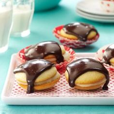 Boston Cream Pie Cookies Recipe from Taste of Home -- shared by Evangeline Bradford of Erlanger, Kentucky