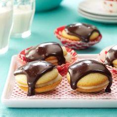 Boston Cream Pie Cookies Recipe from Taste of Home -- shared by Evangeline Bradford of Erlanger, Kentucky