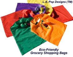 Convenient & Handy L.A. Pop Designs(TM) #groceryshoppingbags expand to hold many items! http://www.lapopdesigns.com