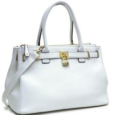 Isabelle Adjustable Top Padlock Fashion Tote - Overstock™ Shopping - Great Deals on Tote Bags