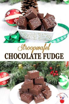 This easy Stroopwafel Chocolate Fudge is smooth, r…
