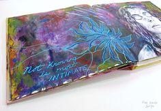 mixed media altered book art journal (Hali Karla)