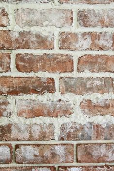 Brick accent walls bring just the right touch of rustic farmhouse to a room. You can install your own brick accent wall with a few simple products and steps Brick Tile Wall, Brick Wall Decor, Tile Accent Wall, Brick Accent Walls, Faux Brick Walls, Brick Paneling, Fireplace Remodel, Fireplace Wall, Brick Interior