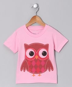 #Pink #Owl Organic Tee from Morado Designs on #zulily