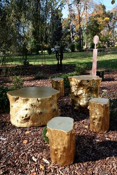 Phillips Collection - Log Cocktail Table, Gold Leaf Tree Stump Furniture, Tree Stump Table, Log Furniture, Furniture Ideas, Tree Stumps, Trunk Table, Log Side Table, Log Coffee Table, Coffee And End Tables