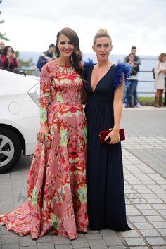 Paula Echevarría y Cecilia Freire en la boda de Marta Hazas y Javier Veiga