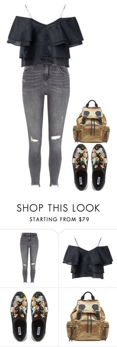 """Hit me like electricity"" by charlotteh2001 ❤ liked on Polyvore featuring River Island, Dune and Burberry"