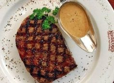 Ribeye steak grilled with pepper sauce - recipes of italian dishes