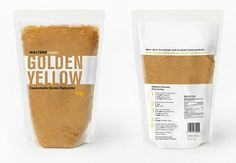 Walters Sugar - This package redesign solves the problem of flimsy bags of brown sugar that spill easily. Walters Sugar resealable bag stands on its own and reduces clumping and spilling. Simple typography and design reflect ease of use and showcase the golden sugar.