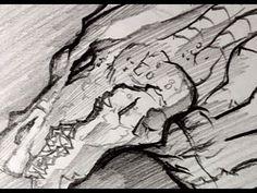 How to Draw a Dragon Head, Draw a Dragon, Pencil Work, Step by Step