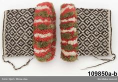 Ore, Dalarna, ca 1840-1870. Swedish traditional 'pulswarmers' (cuffs). Digitalt Museum - Armmuddar Knit Mittens, Knitted Gloves, Knitting Socks, Hand Knitting, Knit Socks, Folklore, Sampler Quilts, Wrist Warmers, Vintage Knitting