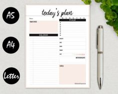 Hourly Planner Printable Daily Schedule by BeProductiveToday