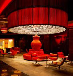 Revel (atlantic city, new jersey) - jetsetter cafe and bar интерьеры рестор Hotel Lounge, Lobby Lounge, Bar Lounge, Lounge Design, Club Design, Commercial Design, Commercial Interiors, Bar Interior, Interior And Exterior