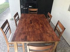 6 seater dining table, good condition! Recently been re-stained. We do have x4 plastic chairs as well that we'll chuck in if wanted!  Great condition Glass cabinet  Need gone asap.  Located North Lakes  Please message for more photos as it's only allowing me to post 1  Please text 0428 429 822! For more info! #rangloo, #bar, #accessories