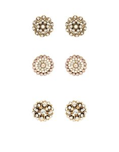 Taking its style cues from the Art Deco era, our Emily embellished stud earrings are inlaid with lustrous pearl beads and sparkling crystal gems. Non-refunda. Diamond Earrings, Stud Earrings, Flower Stud, Art Deco Era, Pearl Beads, Women's Accessories, Sparkle, Gems, Pearls