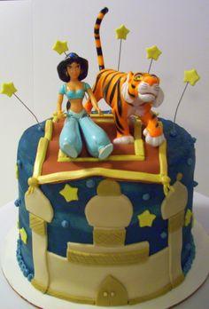 Princess Jasmine Cake Cupcake Cake Designs, Cupcake Cakes, Cupcakes, Jasmine Birthday Cake, 7th Birthday, Birthday Parties, Princess Jasmine Cake, Aladdin Cake, Character Cakes