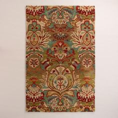 One of my favorite discoveries at WorldMarket.com: Floral Medallion Tufted Wool Rug
