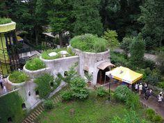 Museum gardening - Ghibli Museum in Mitaka, Tokyo, Japan - funded by Hayao Miyazaki.