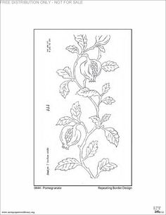 Pomegranate embroidery pattern.  Free from the Antique Pattern Library.