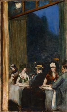 Kaffeehausszene von Lesser Ury, 1928