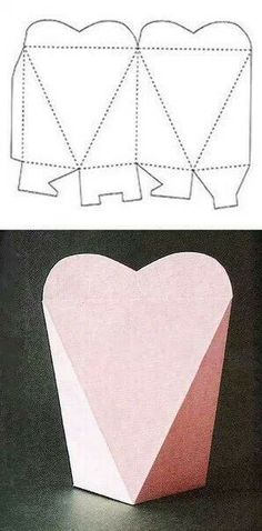 Box template adorable heart shape great for childs party