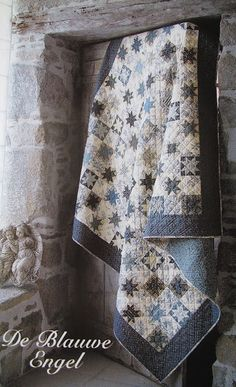 Beautiful blue and white quilt...