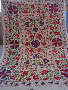 Uzbek fully handmade cotton embroidery by jaisalmerhandloom, $199.00