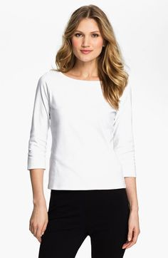 Eileen Fisher Scoop Neck Tee (Regular