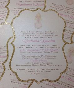 Precious Moments Invitation Angel Invitation by PlaceOfEvents