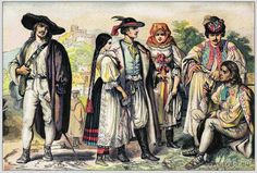 Traditional Woman`s and Mens Dress from Romania. Transylvanian folk dresses and clothing. Historical Costume, Historical Clothing, Romania Map, Romanian Revolution, European Costumes, Vlad The Impaler, Medieval Paintings, Period Outfit, Medieval Clothing