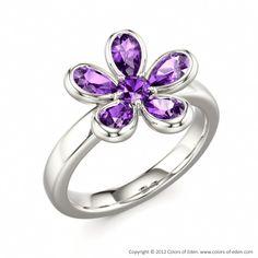 Flower Ring #Amethyst
