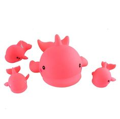 Bath toys. Pink whales :)