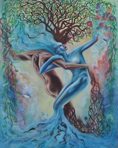 Surreal Artwork Explores The Intricate Relationship Between Humans And Nature Illusion Kunst, Illusion Art, Fantasy Kunst, Fantasy Art, Surreal Artwork, Visionary Art, Tree Art, Erotic Art, Female Art