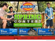 Dickies Spring Contest – Win $500 Walmart Gift Card