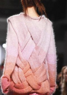 Ombre soft chunky knit sweater  - I would like it in indigo!