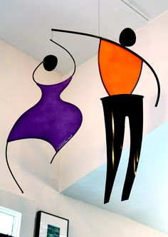 DANCING COUPLE Hanging Mobile