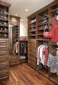Custom Closet In Italian Walnut By Valet Custom Cabinets U0026 Closets